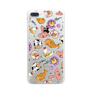 からかういきもの Clear smartphone cases