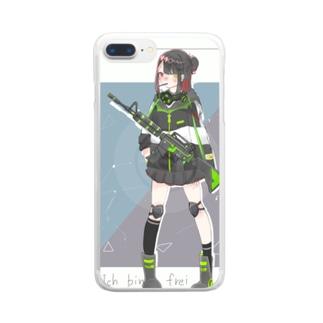 Reina_1104_13のM4ちゃん Clear smartphone cases