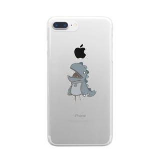 かいじゅうさん Clear smartphone cases