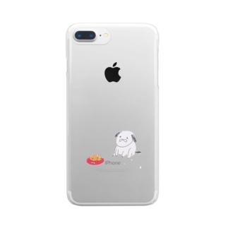 いぬとごはん Clear smartphone cases