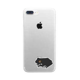 かえるくん Clear smartphone cases