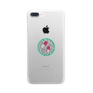 おくちゅり Clear smartphone cases
