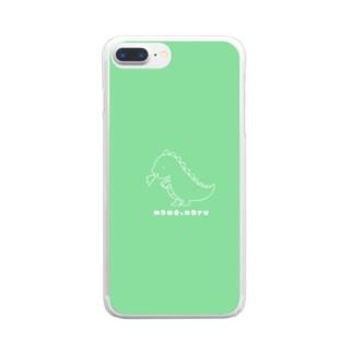 恐竜くんといっしょ Clear smartphone cases