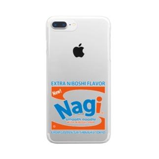 凪地獄の凪Brillo Clear smartphone cases