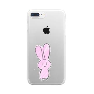 うさ Clear smartphone cases