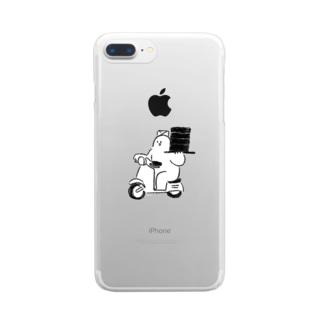 出前始めました Clear smartphone cases