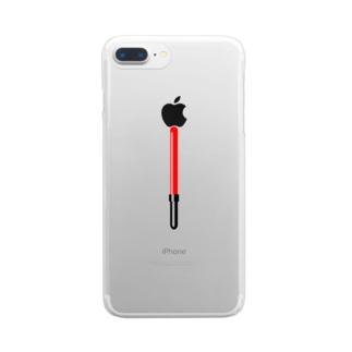 工事現場の誘導棒・誘導灯イラスト【マニアックなモノシリーズ】 Clear smartphone cases