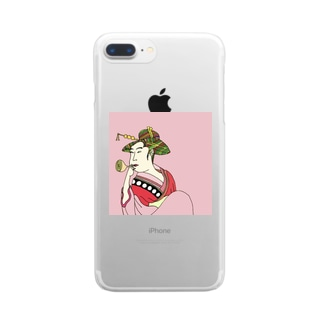 Mrs. Earth 『おピンはん』 Clear smartphone cases