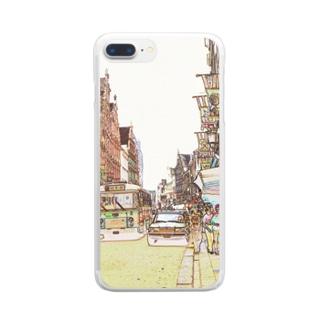 CG絵画:ブリュージュの風景 CG art: Bruges Clear smartphone cases