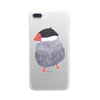 桜文鳥 Clear smartphone cases