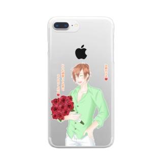 言の葉 薔薇 Clear smartphone cases