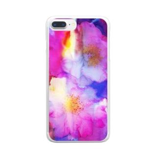 さざんかろまんす Clear smartphone cases