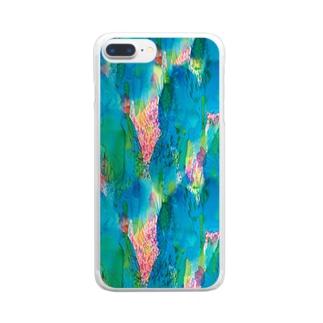 ひとすじの_pattern_ver. Clear smartphone cases