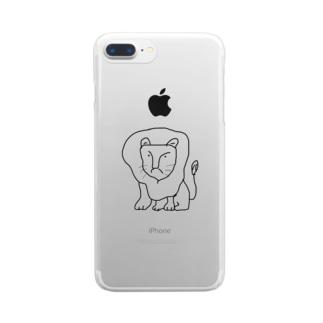 らいおん Clear smartphone cases