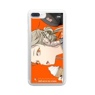 ソフトクリーム Clear smartphone cases