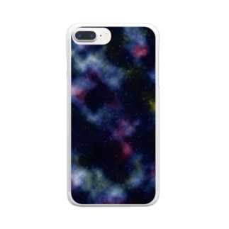 銀河 ギャラクシー 1 Clear smartphone cases