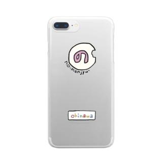 のーまんじゅう Clear smartphone cases
