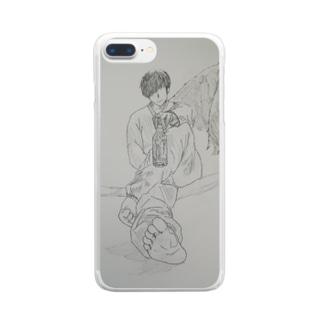 病(やまい) Clear smartphone cases