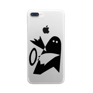 ハッピーエイリアン Clear smartphone cases