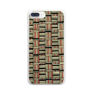 レトロパターン Clear smartphone cases