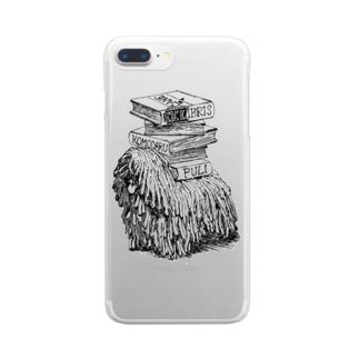 プーリー蔵書票 Clear smartphone cases