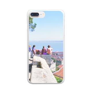 ポルトガル:リシュボアの風景写真 Portugal: Castelo de São Jorge / Lisboa ( Lisbon ) Clear smartphone cases