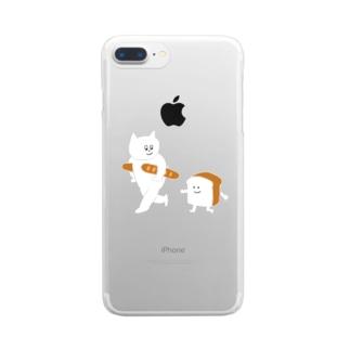 食パンとねこ Clear smartphone cases