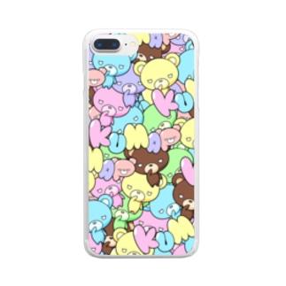 カラフルくまっぷ-クリアスマホケース Clear smartphone cases