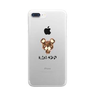 ドットくまっぷ-スマホケース Clear smartphone cases