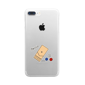 おとなのつくってあそぼの新 ボッチャ!シンプル Clear smartphone cases