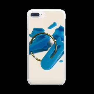 がつの壊した洗濯バサミ Clear smartphone cases