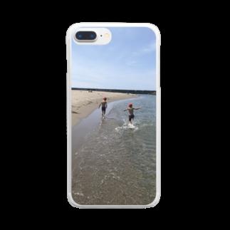 Swa86387072の真夏の浜辺 Clear smartphone cases
