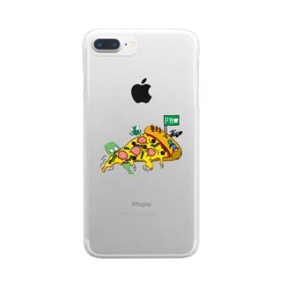 ピザプラネット Clear smartphone cases