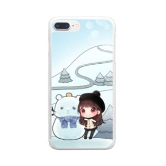 2019年冬会長DVDのスマホケース Clear smartphone cases