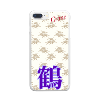Swa86387072の鶴 Clear smartphone cases