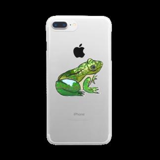 creat_tonakaiのフロッグ Clear smartphone cases