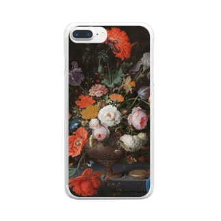 Still life with flowers and a watch Clear smartphone cases