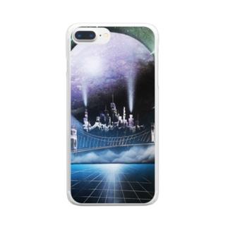 スプレーアート街 Clear smartphone cases