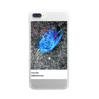 HAMATIIのArt in everyday life-blue- Clear smartphone cases