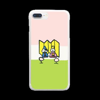n_shhhinのひなまつりにーの Clear smartphone cases