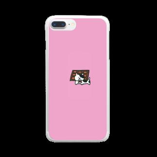 n_shhhinのバレンタインにーの Clear smartphone cases