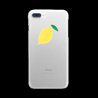 さかなにんげん太郎のレモン Clear smartphone cases
