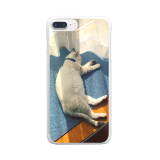 SHOP_KAGENEKOのユメ-爆睡- Clear smartphone cases