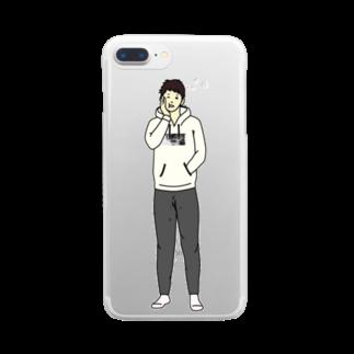 ショップ koのねむねむぅ Clear smartphone cases