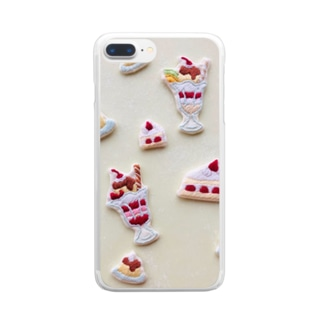 pulpy。のスイーツパーラー Clear smartphone cases