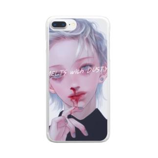 鼻血くん~ Clear smartphone cases