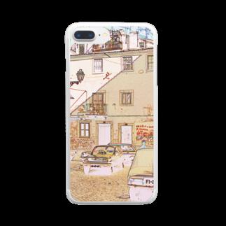 FUCHSGOLDのCG絵画:アルファマの風景画 CG art: Alfama / Lisboa (Lisbon) Clear smartphone cases