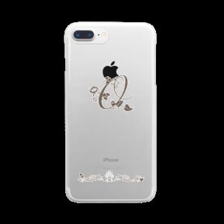 sonoteniのアルファベット イニシャル ボタニカル O #143 Clear smartphone cases