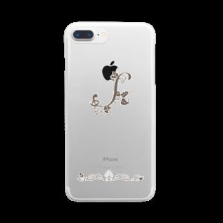 sonoteniのアルファベット イニシャル ボタニカル S #147 Clear smartphone cases