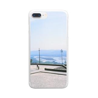 ポルトガル:ヴィアナ・ド・カステロの風景写真 Portugal: Rio Lima / Viana do Castelo Clear smartphone cases
